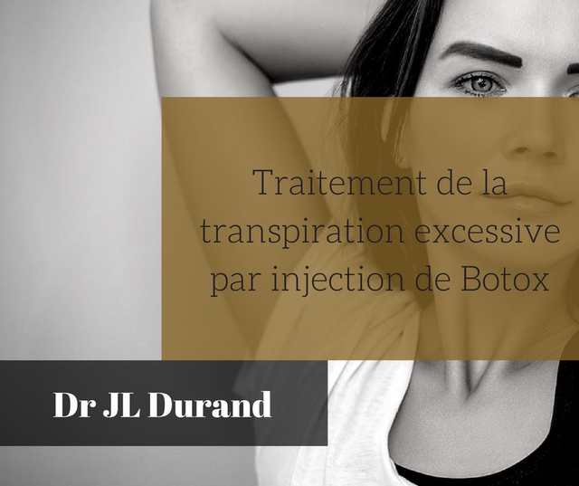 Traitement de la transpiration excessive par injection de Botox